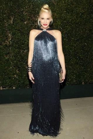 Gwen-Stefani-wore-a-fringed-gown-by-Ferragamo.