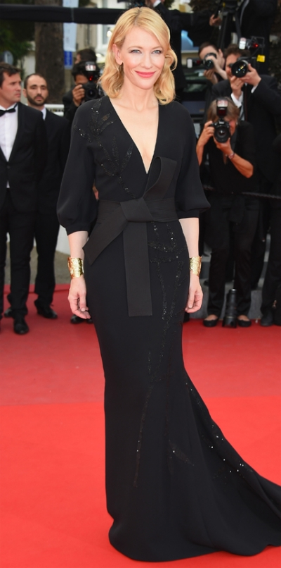 """CANNES, FRANCE - MAY 19:  Cate Blanchett attends the """"Sicario""""  Premiere during the 68th annual Cannes Film Festival on May 19, 2015 in Cannes, France.  (Photo by Venturelli/WireImage)"""