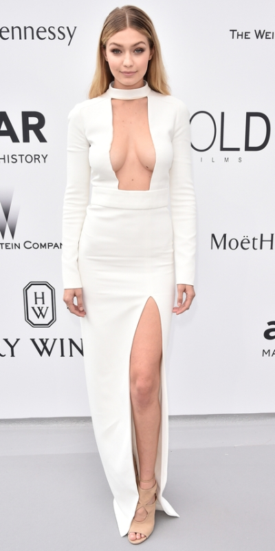 CAP D'ANTIBES, FRANCE - MAY 21:  Model Gigi Hadid attends amfAR's 22nd Cinema Against AIDS Gala, Presented By Bold Films And Harry Winston at Hotel du Cap-Eden-Roc on May 21, 2015 in Cap d'Antibes, France.  (Photo by George Pimentel/amfAR15/WireImage)