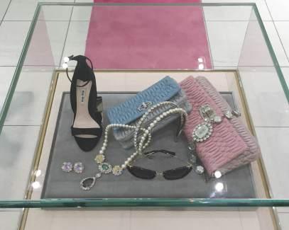 Opulent evening gown accessories