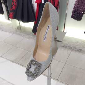 Shoes like Manolo Blahnik were also on display